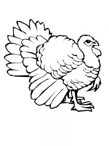 Christian Turkey Coloring Pages