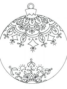 Christmas Angel Ornaments Coloring Pages Printable