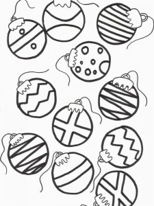 Christmas Ball Ornament Coloring Pages