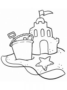 Christmas Beach Coloring Pages