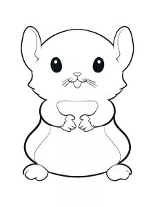 Christmas Hamster Coloring Pages