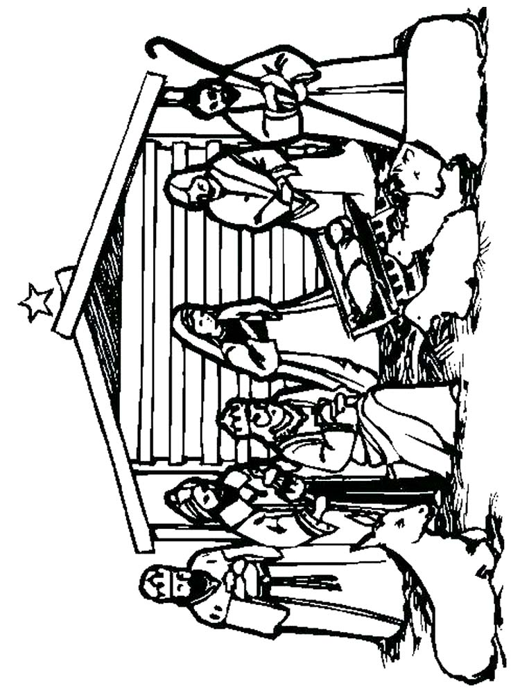 Christmas Manger Scene Coloring Pages