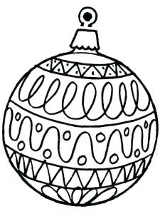Christmas Ornament Coloring Book Page