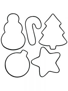 Christmas Ornament Coloring Page Cut Out