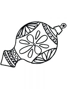 Christmas Ornament Coloring Pages Online