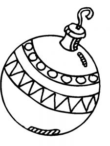 Christmas Ornament Coloring Pages Printable