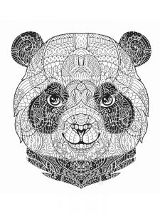 Christmas Panda Coloring Pages