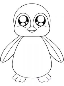 Christmas Penguins Coloring Pages