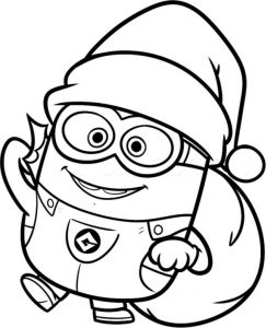 Christmas minion coloring pages