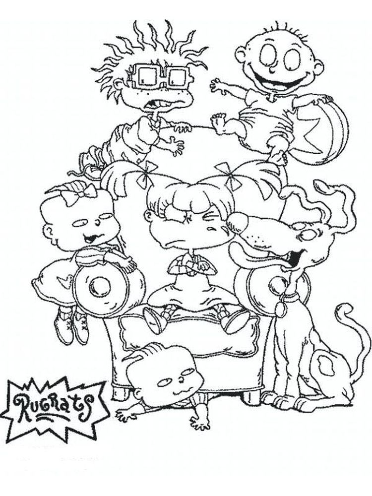 Chuckie Rugrats Coloring Pages