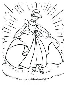 Cinderella And Sleeping Beauty Coloring Pages