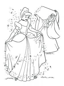 Cinderella Castle Coloring Pages Print