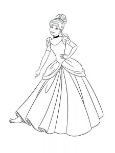 Cinderella Coloring Pages Games