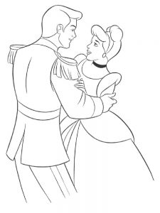 Cinderella Coloring Pages Picture