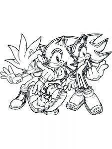Classic Sonic Coloring Page