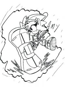 Classic Sonic The Hedgehog Coloring Pages