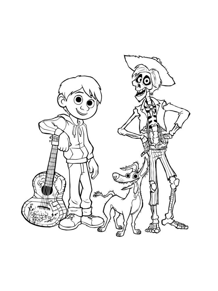 Coco Coloring Pages To Print