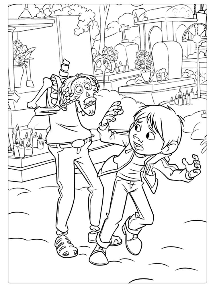 Coco Movie Coloring Pages