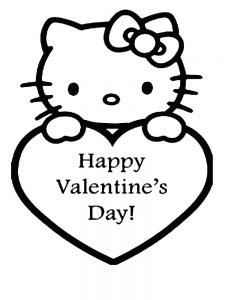 Colored Valentines Day Coloring Pages