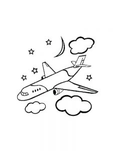 Coloring Book Pages Airplane