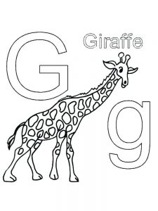 Coloring Book Pages Giraffe