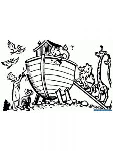 Coloring Book Pages Of Noahs Ark