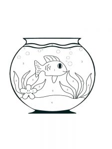 Coloring Page Fish And Loaves