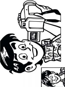 Coloring Page Of A Camera