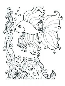 Coloring Page Of A Fish Bowl