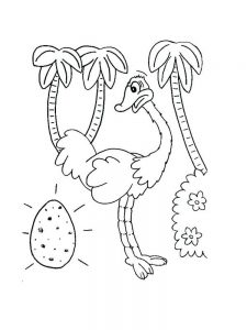 Coloring Page Of A Ostrich