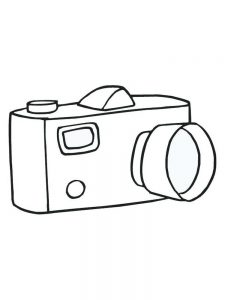 Coloring Page Of Camera