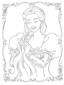 Coloring Pages Disney Princesses Cinderella