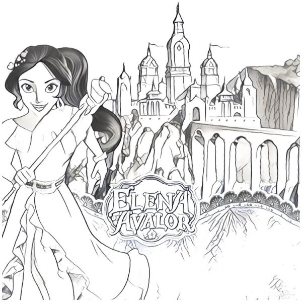 Coloring Pages Elena of Avalor free collection