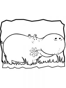 Coloring Pages For Hippo