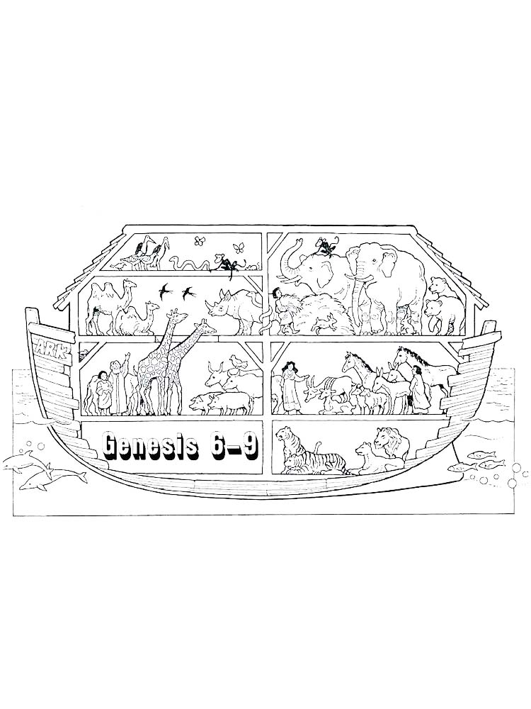 Coloring Pages For Noahs Ark