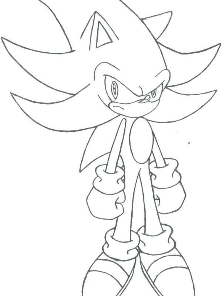 Coloring Pages For Sonic The Hedgehog