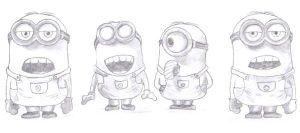 Coloring Pages Minions Laughing