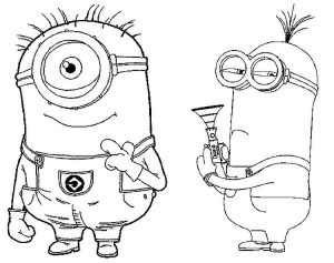 Coloring Pages Minions in style