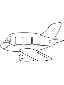 Coloring Pages Of 747 Airplane