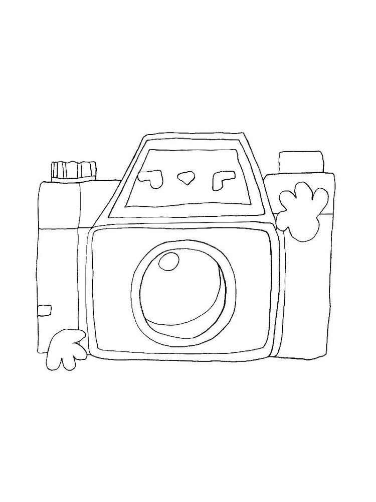 Coloring Pages Of A Camera