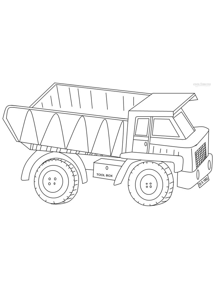 Coloring Pages Of A Dump Truck