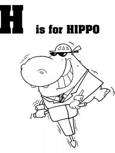 Coloring Pages Of A Hippo