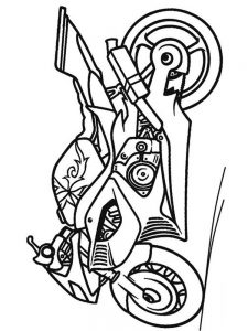 Coloring Pages Of A Motorcycle