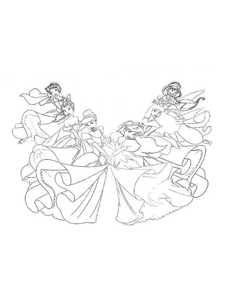 Coloring Pages Of Disney Princesses Online For Free