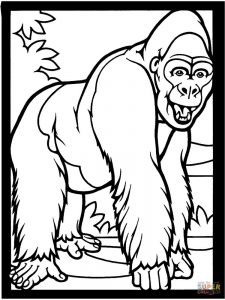 Coloring Pages Of Gorilla