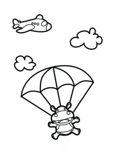 Coloring Pages Of Hippo