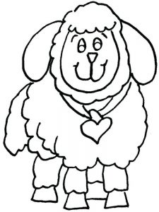 Coloring Pages Of Sheep Dogs