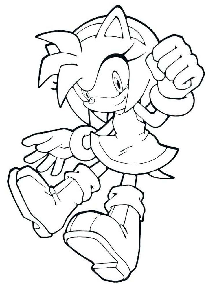 Coloring Pages Of Sonic The Hedgehog