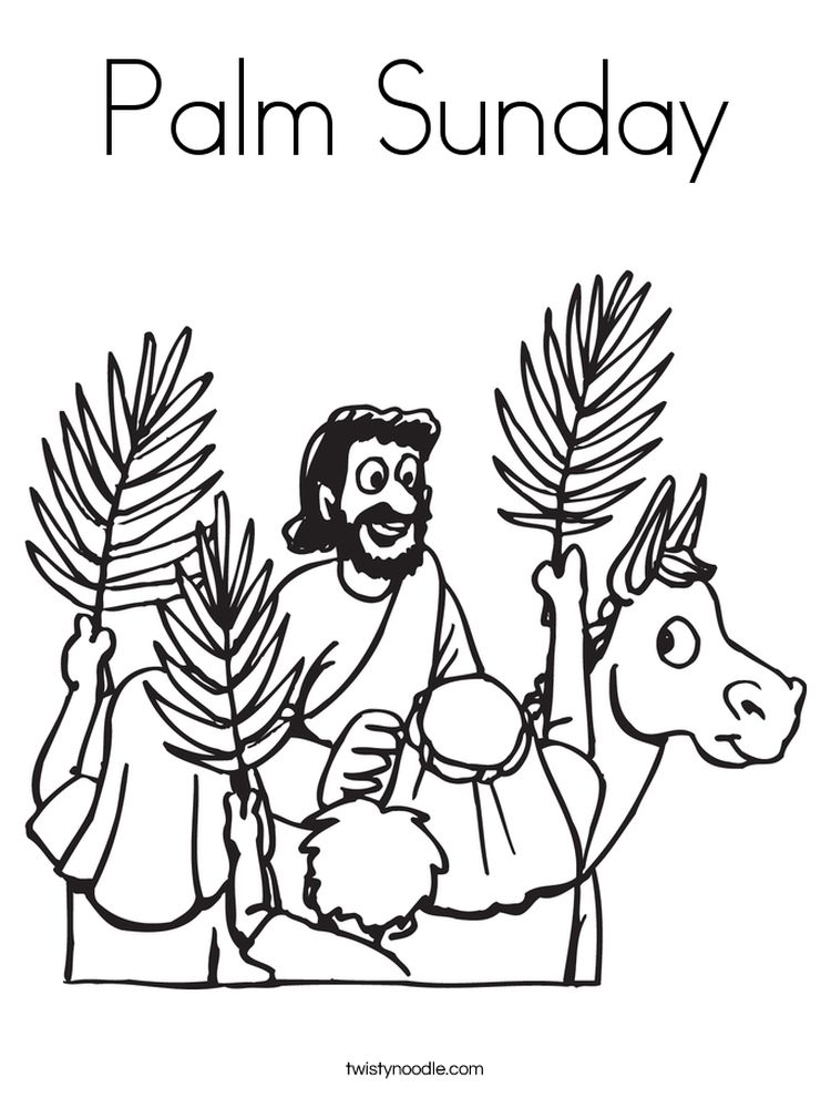 Coloring Pages Palm Sunday Easter