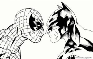 Coloring Pages Spiderman And Batman